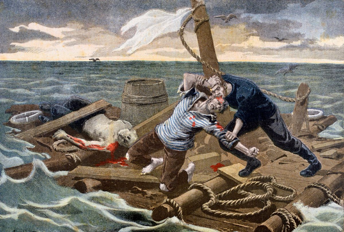 """September 1899 llustration from Le Petit Journal of """"Raft of the Medusa"""" (Art Media/Print Collector/Getty Images)"""