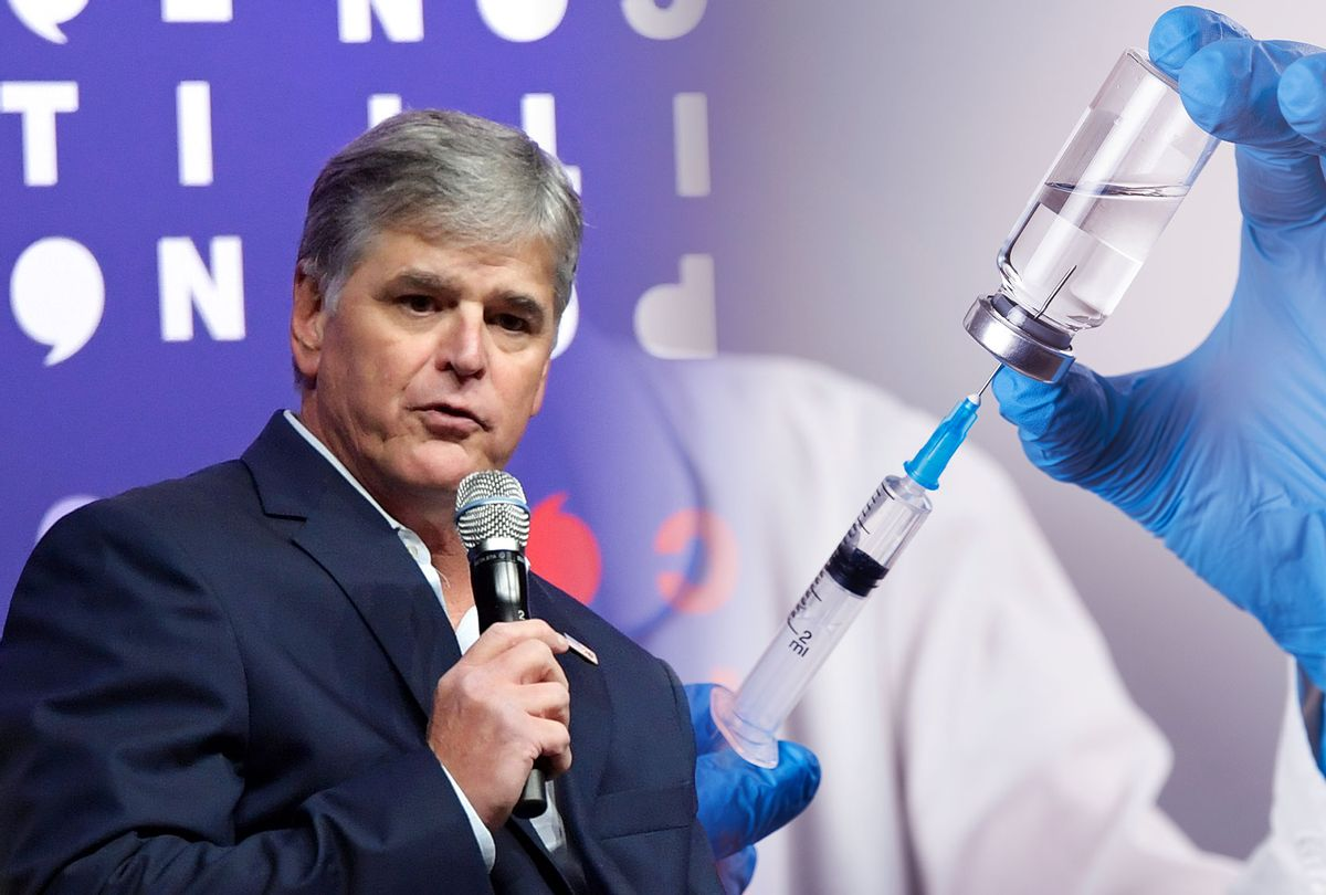 Sean Hannity   Vaccine (Photo illustration by Salon/Aleksandr Zubkov/Jason Kempin/Getty Images)