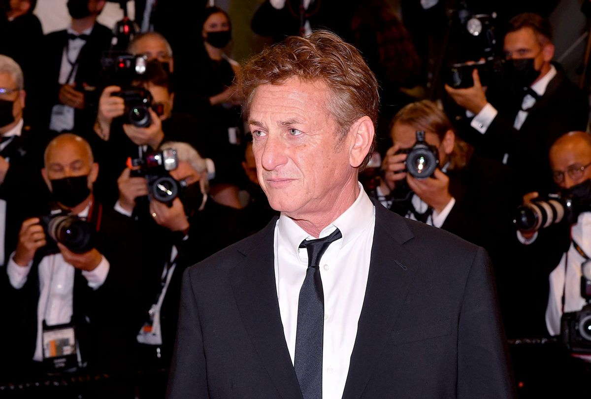 """Sean Penn attends the """"Flag Day"""" screening during the 74th annual Cannes Film Festival on July 10, 2021 in Cannes, France. (Stephane Cardinale/Corbis/Getty Images)"""