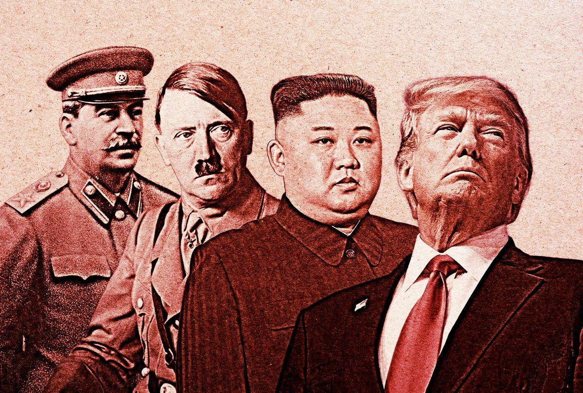 Joseph Stalin, Adolf Hitler, Kim Jong-Un and Donald Trump (Photo illustration by Salon/Getty Images)