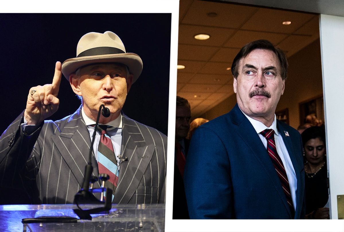 Roger Stone and Mike Lindell (Photo illustration by Salon/Getty Images)