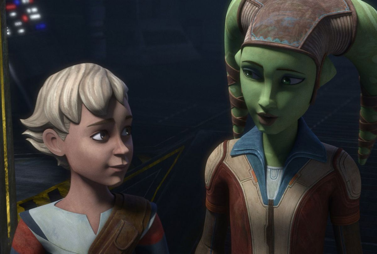 "Omega and Hera Syndulla in ""Star Wars: The Bad Batch"" (Disney+)"