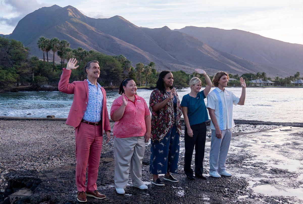 "Murray Bartlett, Jolene Purdy, Natasha Rothwell, Lukas Gage on ""The White Lotus"" (HBO)"