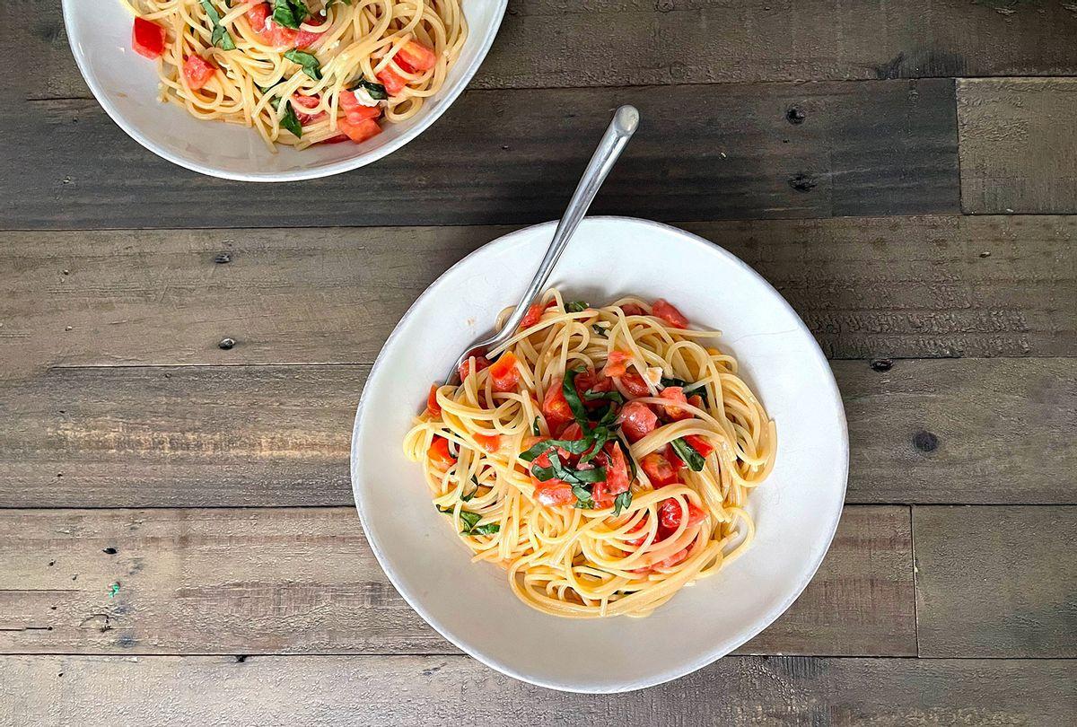 Tomato Brie Pasta (Maggie Hennessy)