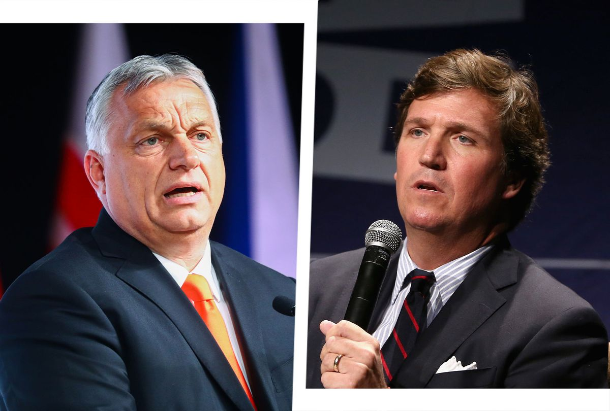 Viktor Orban and Tucker Carlson (Photo illustration by Salon/Getty Images)
