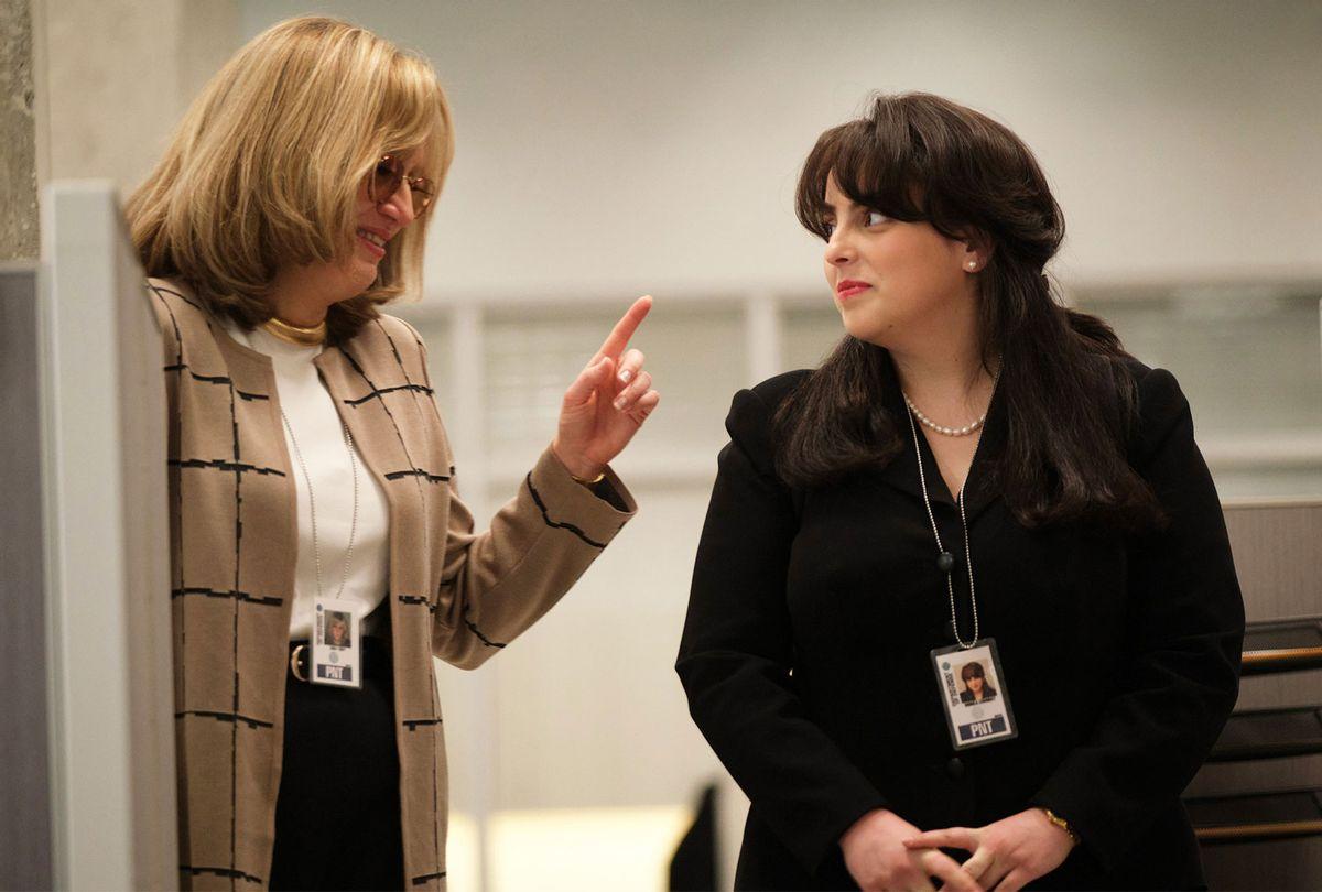 "Sarah Paulson as Linda Tripp and Beanie Feldstein as Monica Lewinsky in ""American Crime Story: Impeachment"" (Tina Thorpe/FX)"