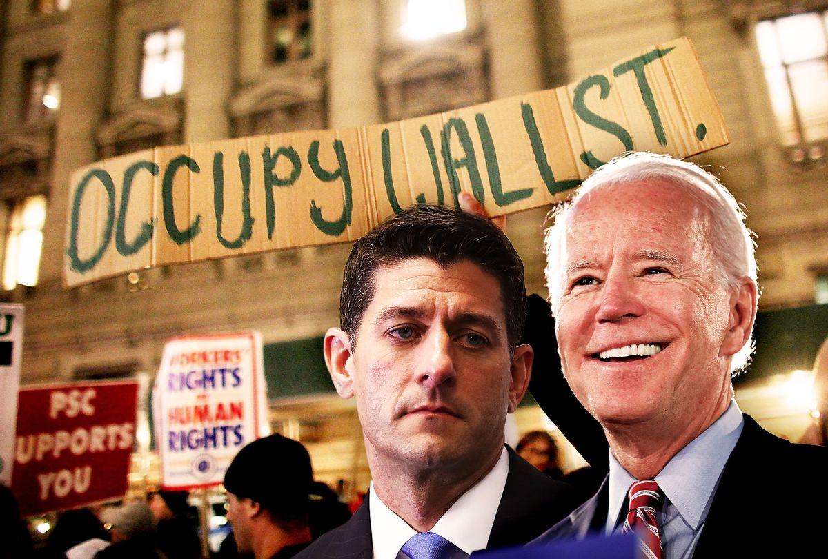 Joe Biden, Paul Ryan and an Occupy Wall Street protest (Photo illustration by Salon/Getty Images)