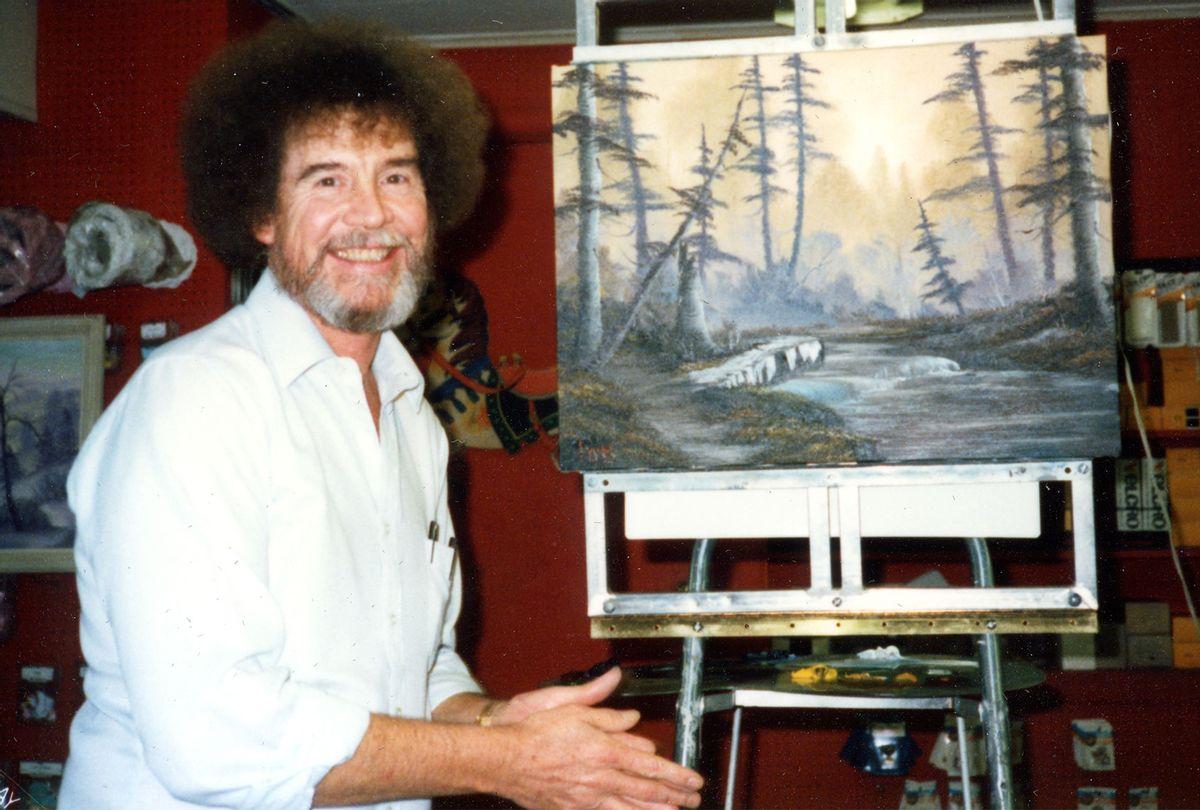 "Painter Bob Ross in ""Bob Ross: Happy Accidents, Betrayal & Greed"" (Netflix)"
