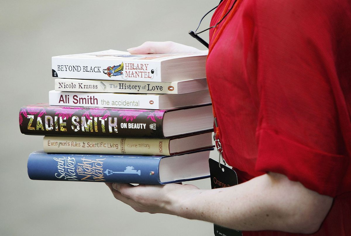 A stack of books nominated for the Orange Prize For Fiction, currently known as Women's Prize for Fiction, in 2006 (Chris Jackson/Getty Images)