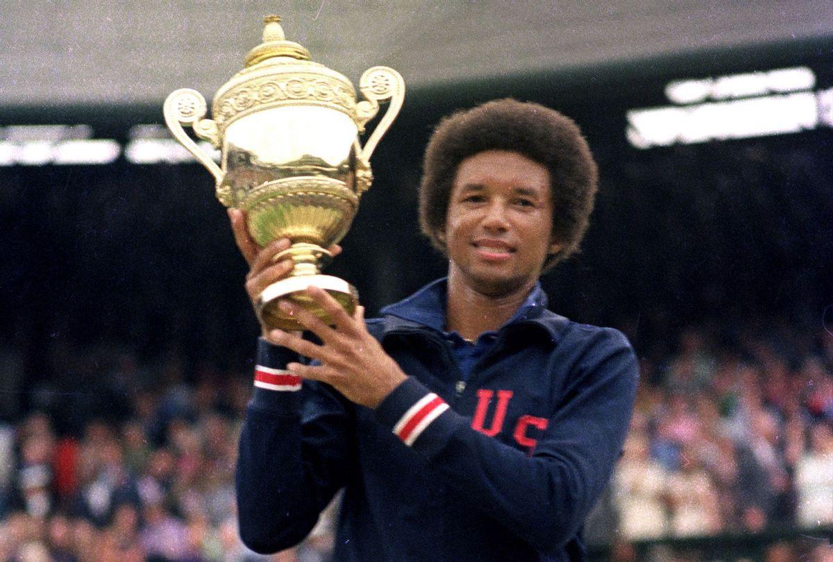 """Arthur Ashe at Wimbledon in """"Citizen Ashe"""" (CNN Films)"""