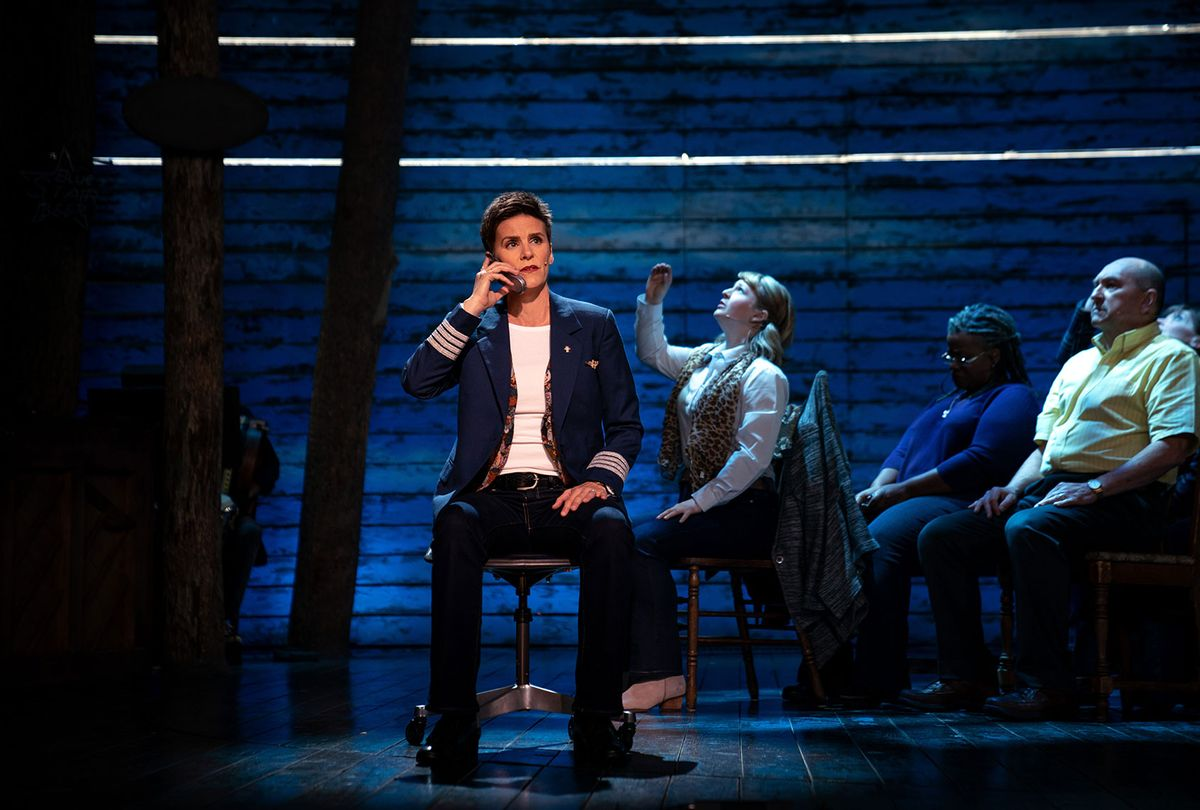 """Jenn Colella, Emily Walton, Q. Smith and Joel Hatch in """"Come From Away"""" (Apple TV+)"""