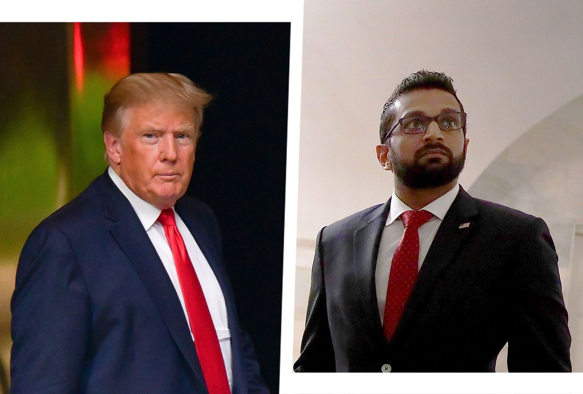 """Former US President Donald Trump and Former National Security Council Senior Director of Counterterrorism Kashyap """"Kash"""" Pramod Patel (Photo illustration by Salon/Getty Images)"""