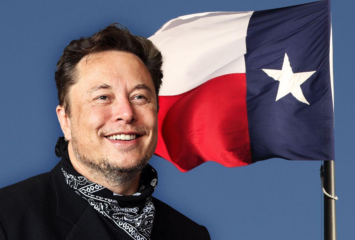 Elon Musk | Texas Flag (Photo illustration by Salon/Getty Images)