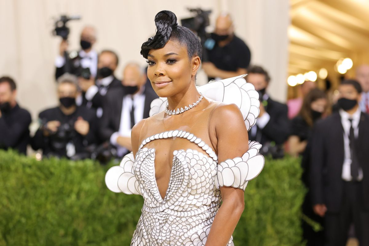 Gabrielle Union attends The 2021 Met Gala Celebrating In America: A Lexicon Of Fashion at Metropolitan Museum of Art on September 13, 2021 in New York City. (Mike Coppola/Getty Images)