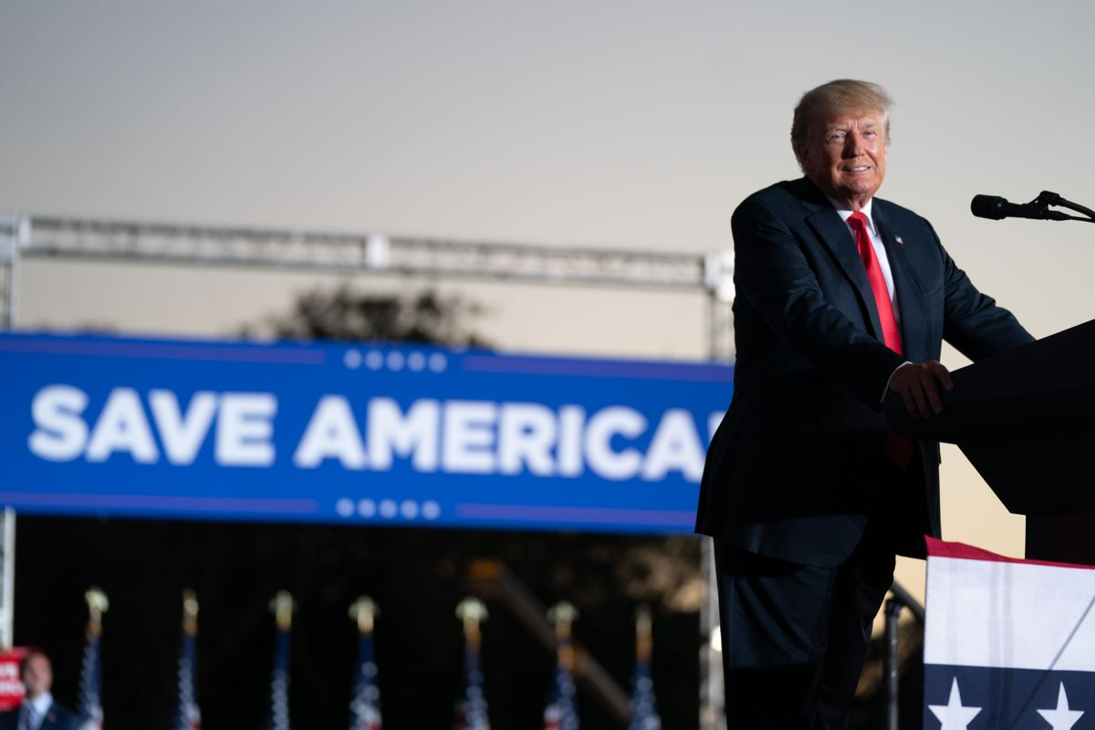 President Donald Trump at a rally in Georgia Saturday night. (Getty Images)
