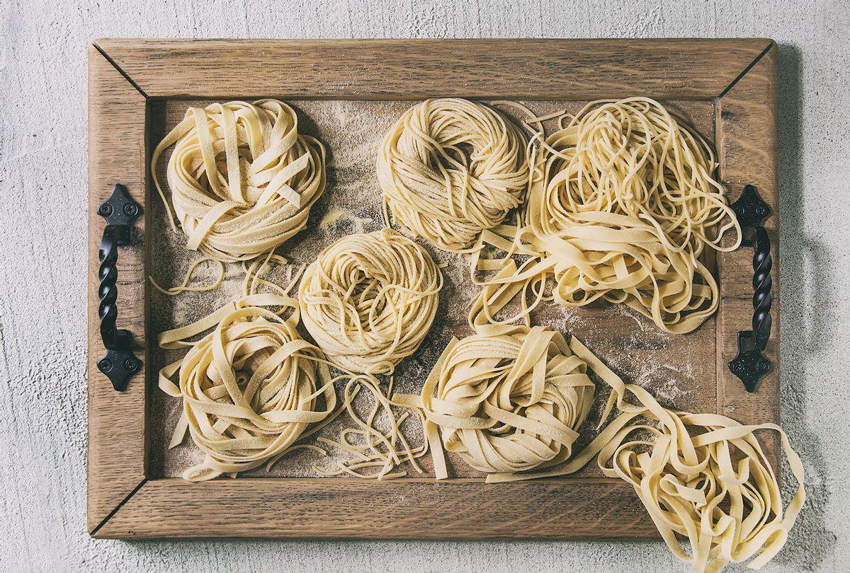 Homemade uncooked pasta (Getty Images/Natasha Breen)