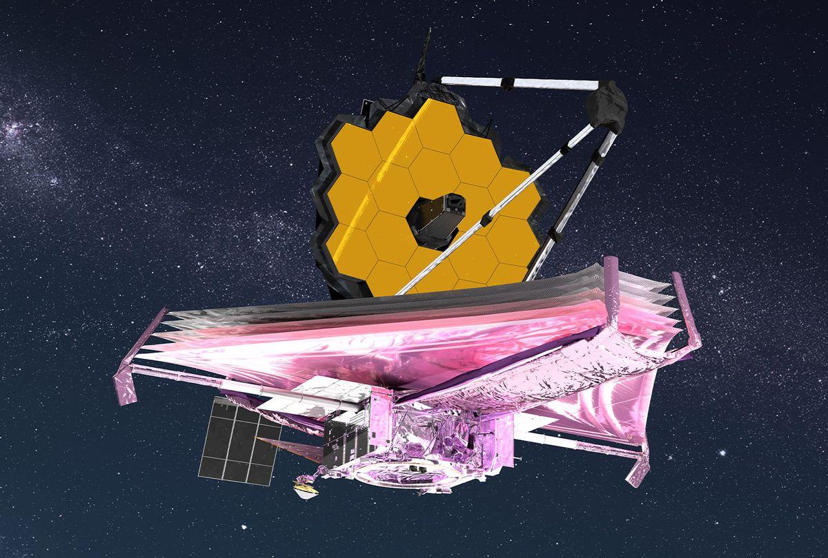 Artist conception of the James Webb Space Telescope. (NASA GSFC/CIL/Adriana Manrique Gutierrez)