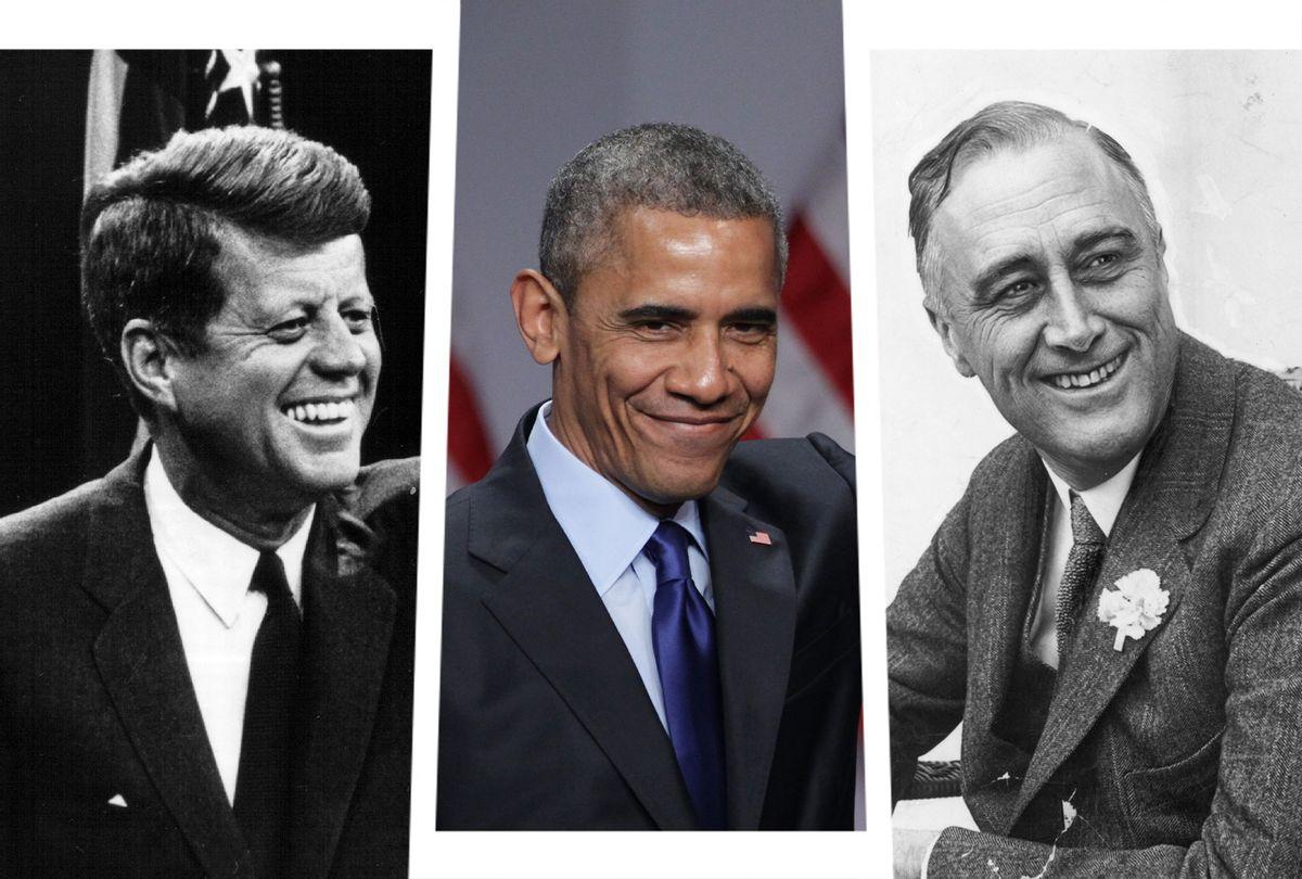 John F. Kennedy, Barack Obama and Franklin Delano Roosevelt (Photo illustration by Salon/Getty Images/Hulton Archive/National Archive/Alex Wong)