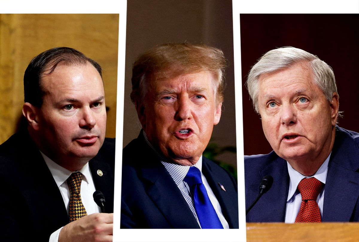 Mike Lee, Donald Trump and Lindsey Graham (Photo illustration by Salon/Getty Images)