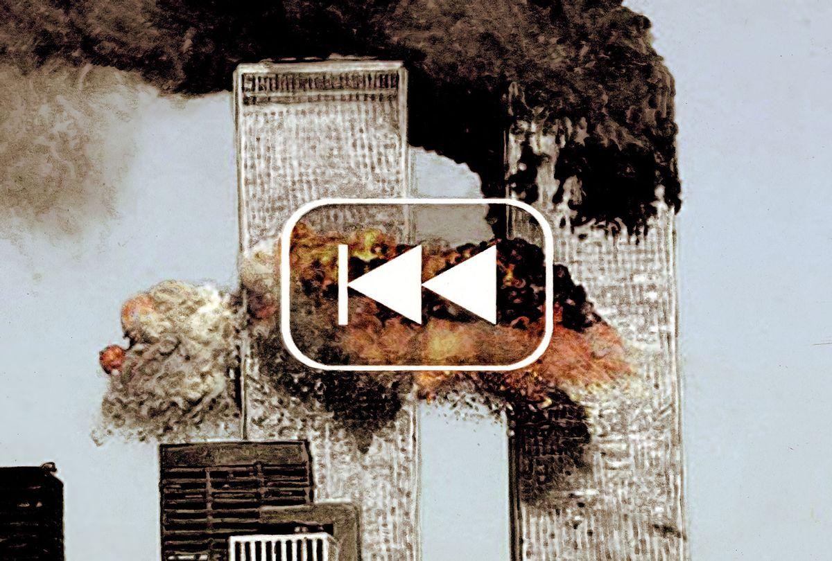 9/11 Rewind (Illustration courtesy of Mr Fish)