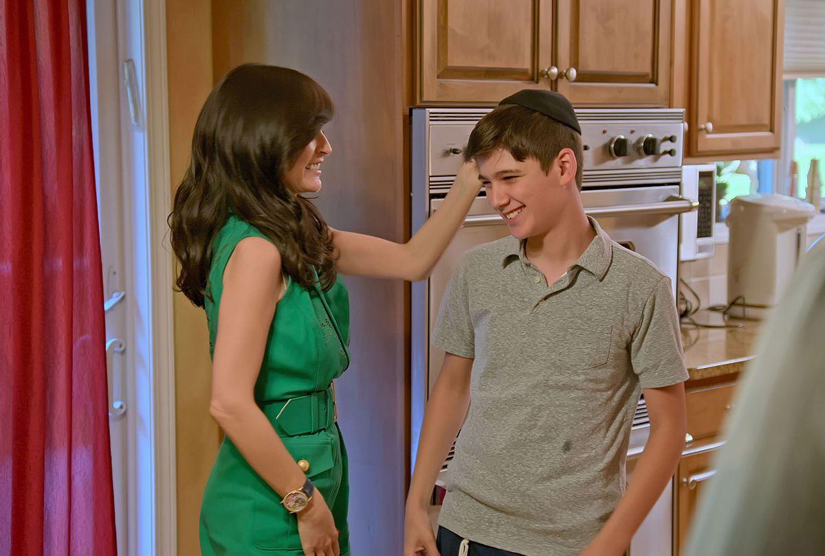 "Julia Haart and Aron Hendler in ""My Unorthodox Life"" (Netflix)"