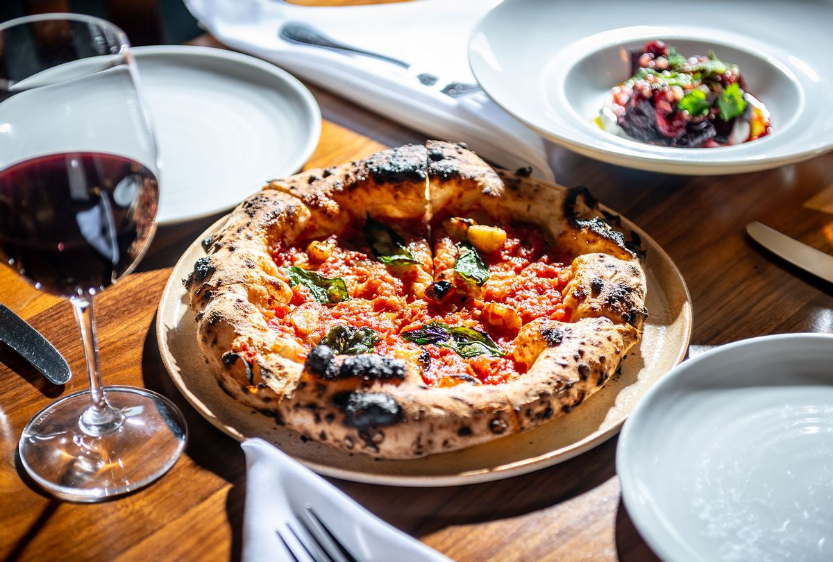 Marinara Rustica pizza at Inferno Pizzeria Napoletana photographed for Weekend in Darnestown, MDon January 12, 2020. (Laura Chase de Formigny for The Washington Post via Getty Images)