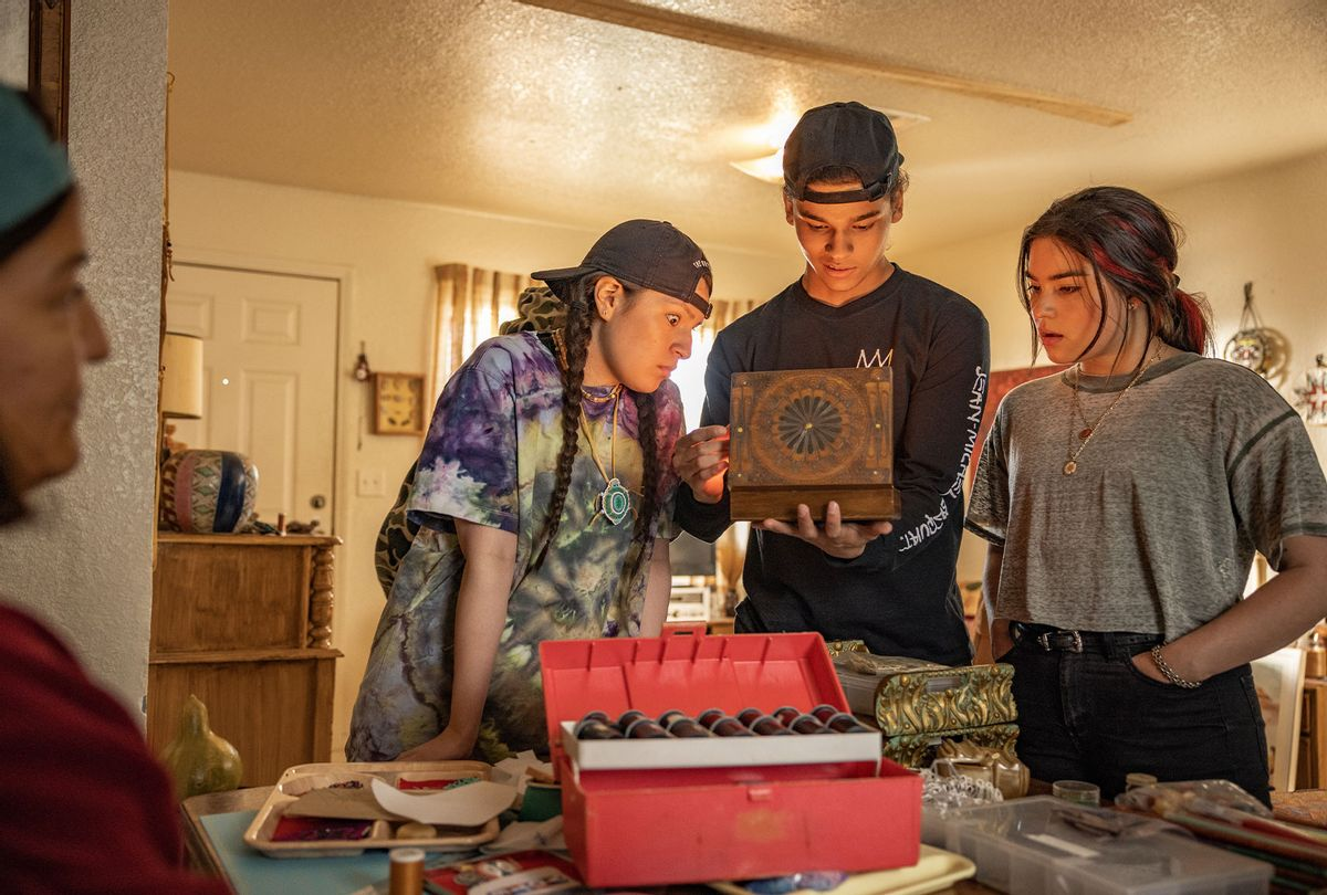 """Kimberly Guerrero, Paulina Alexis, D'Pharoah Woon-A-Tai and Devery Jacobs on """"Reservation Dogs"""" (Shane Brown/FX)"""