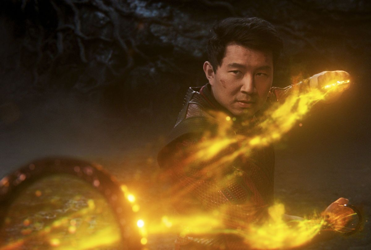 "Simu Liu as Shang-Chi in ""Shang-Chi and the Legend of the Ten Rings"" (Marvel Studios)"