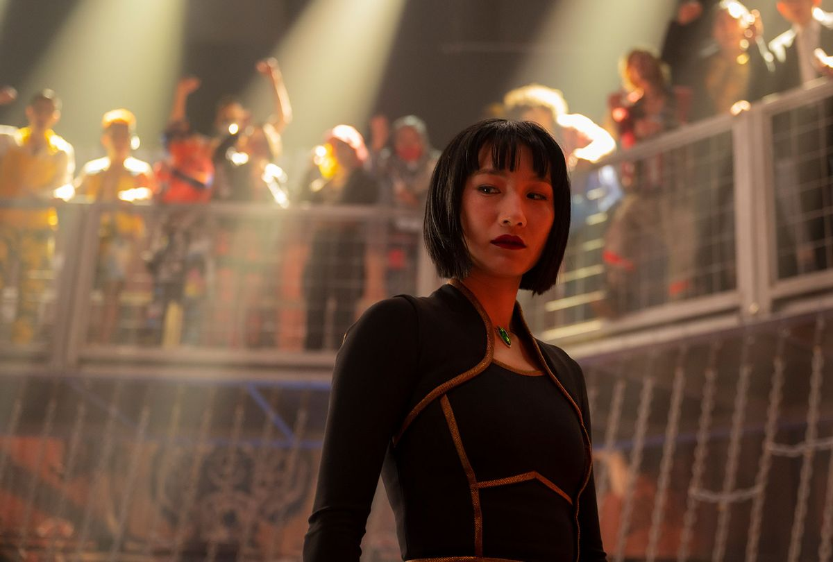 """Meng'er Zhang in """"Shang-Chi and the Legend of the Ten Rings"""" (Marvel Studios/Disney)"""