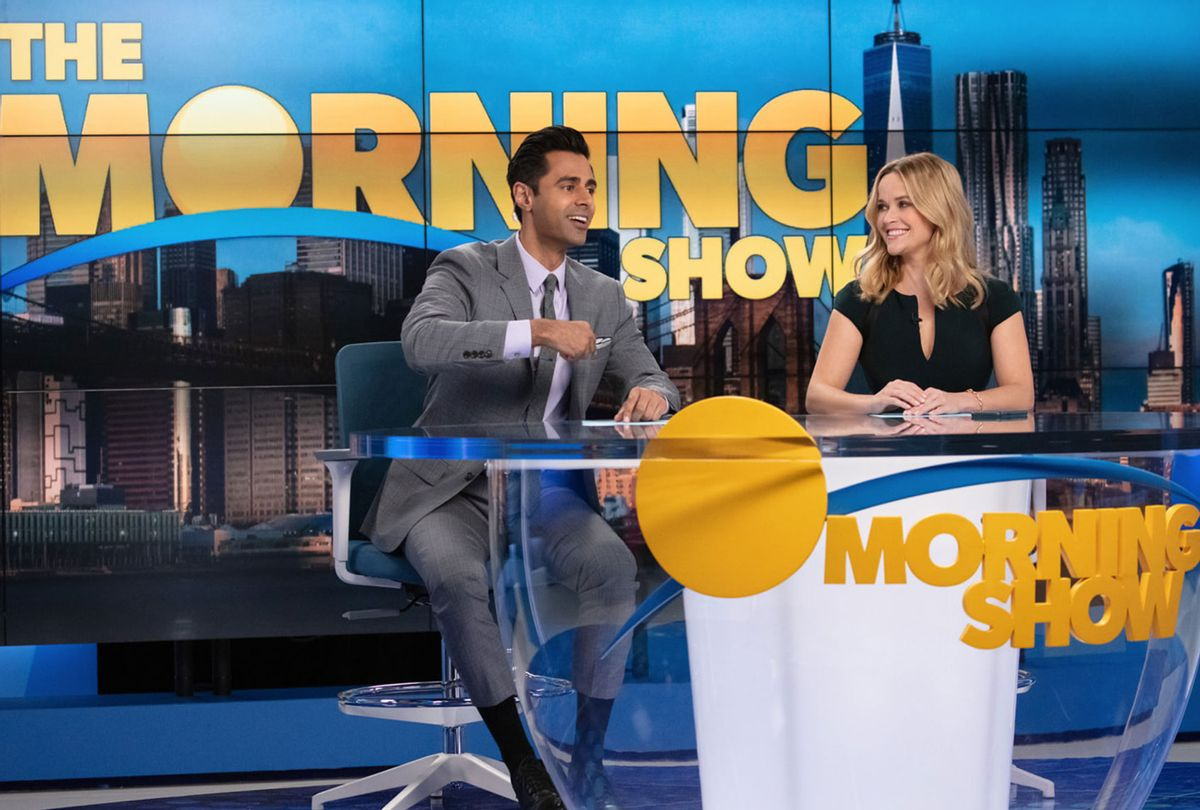 """Hasan Minhaj and Reese Witherspoon in """"The Morning Show"""" (Apple TV+)"""