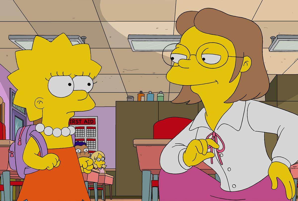 "Lisa Simpson and Ms. Hoover in ""The Simpsons"" (Twentieth Century Fox Film Corporation)"