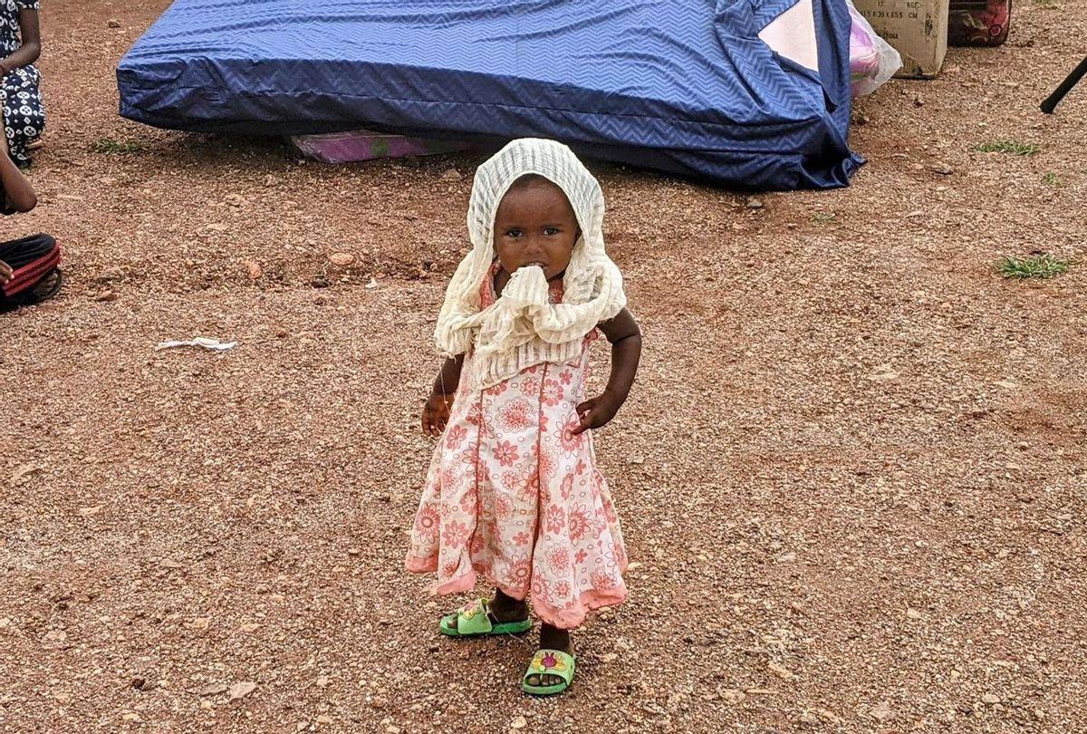 Tigrayan refugee girl in Um Rakuba, Sudan. (Photographed by Jonathan Hutson)