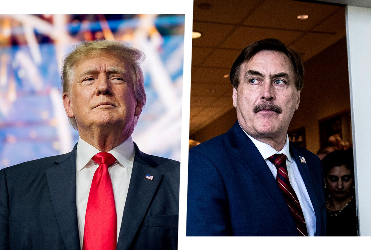 Donald Trump and Mike Lindell (Photo illustration by Salon/Jabin Botsford/Brandon Bell/Getty Images)