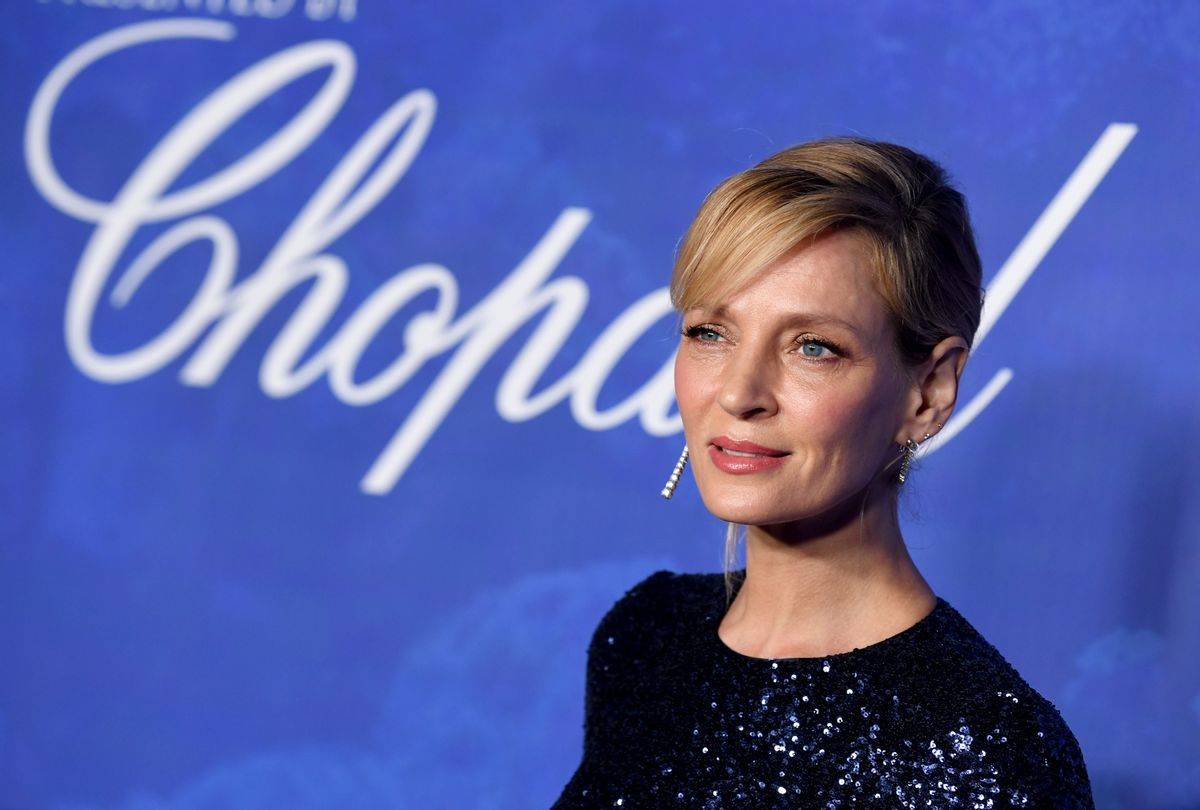 Uma Thurman at the Hollywood For The Global Ocean Gala in Beverly Hills, February 2020  (Kevin Winter/Getty Images)
