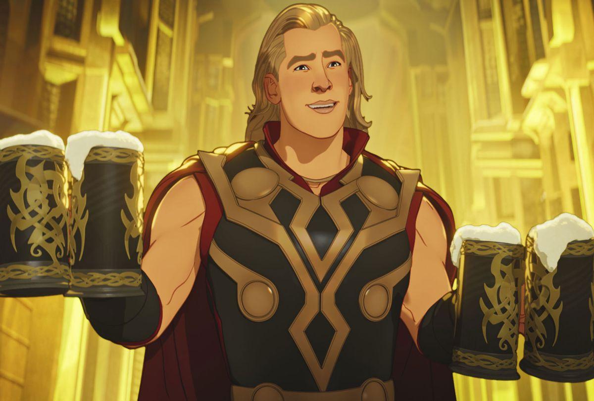 "Thor in Marvel's ""What If...?"" (Marvel Studios/Disney+)"