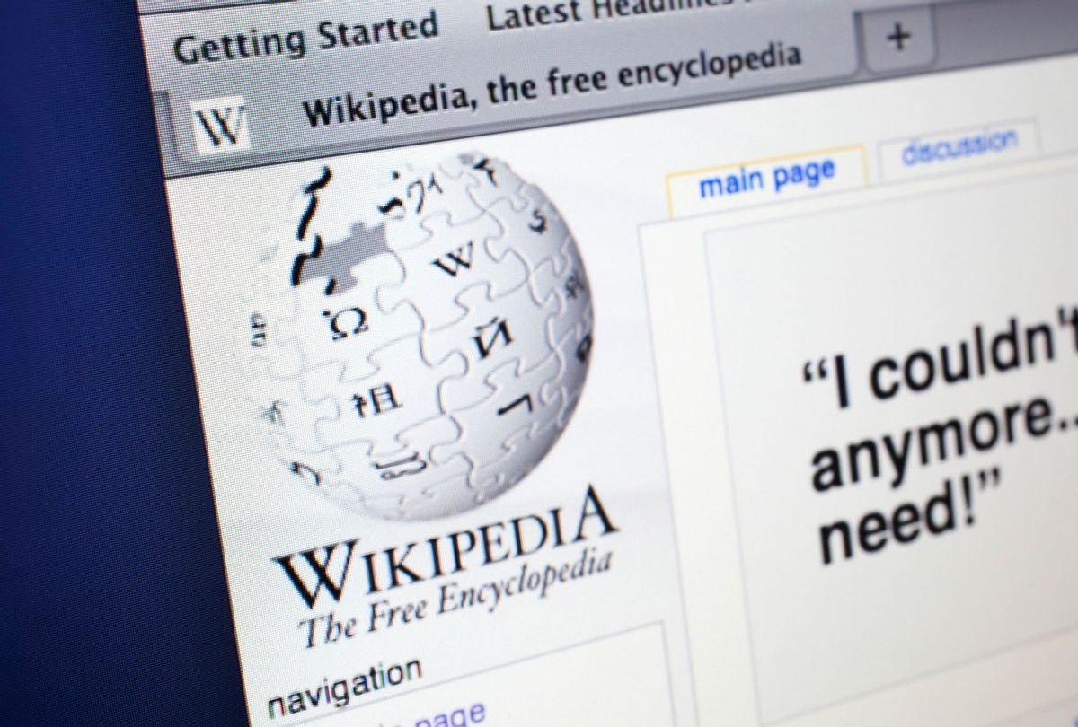 Computer screen showing the website for free online encyclopedia, Wikipedia. (In Pictures Ltd./Corbis via Getty Images)