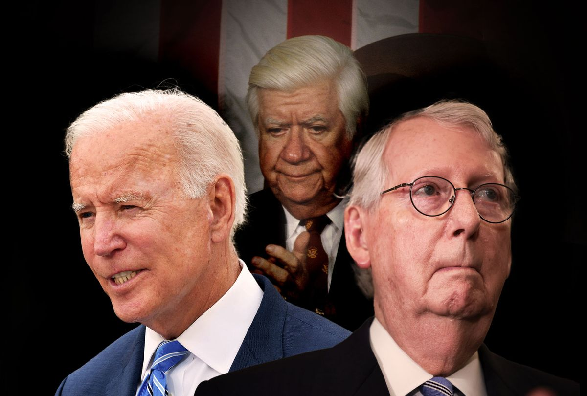 Joe Biden, Mitch McConnell and Tip O'Neill (Photo illustration by Salon/Getty Images)