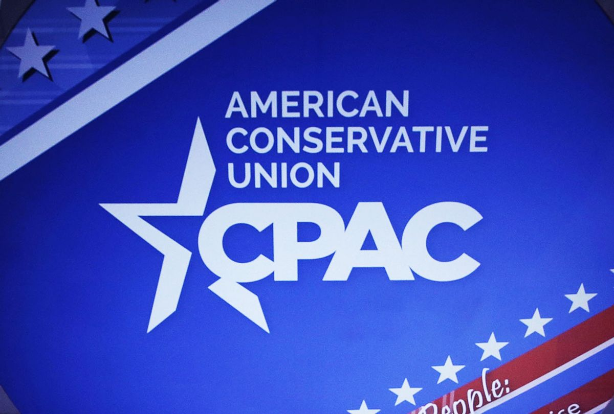 Conservative Political Action Conference sign (Alex Wong/Getty Images)