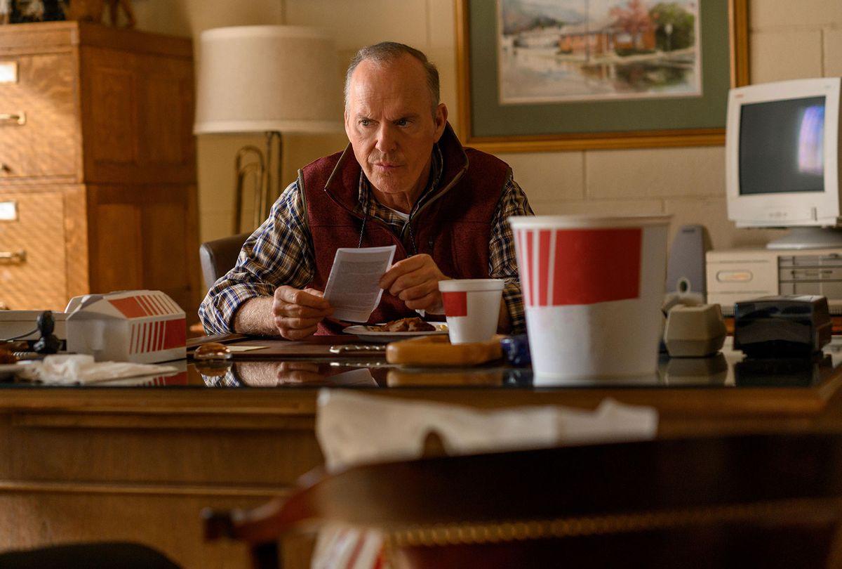 "Michael Keaton in ""Dopesick"" (Antony Platt/Hulu)"