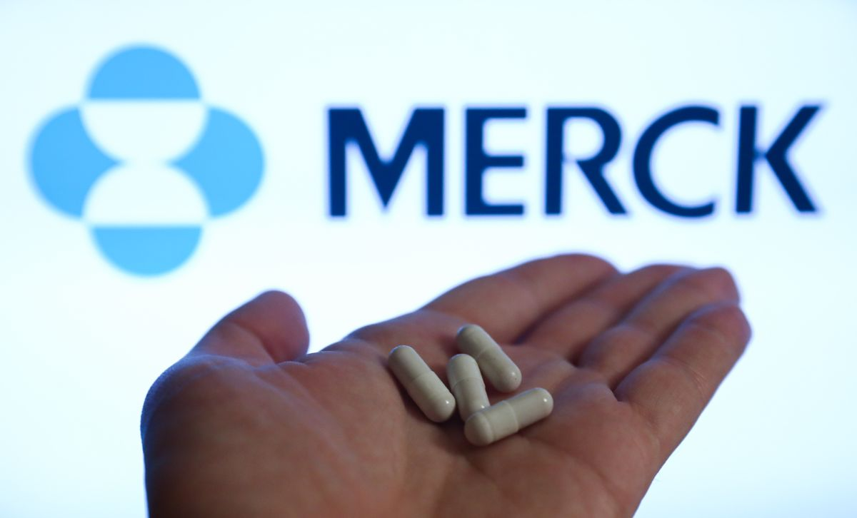 Merck raised prices significantly on its new COVID-19 drug. (Getty Images)