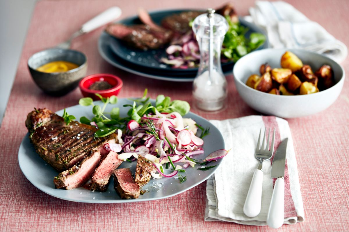 A steak meal for two. (Getty Images)