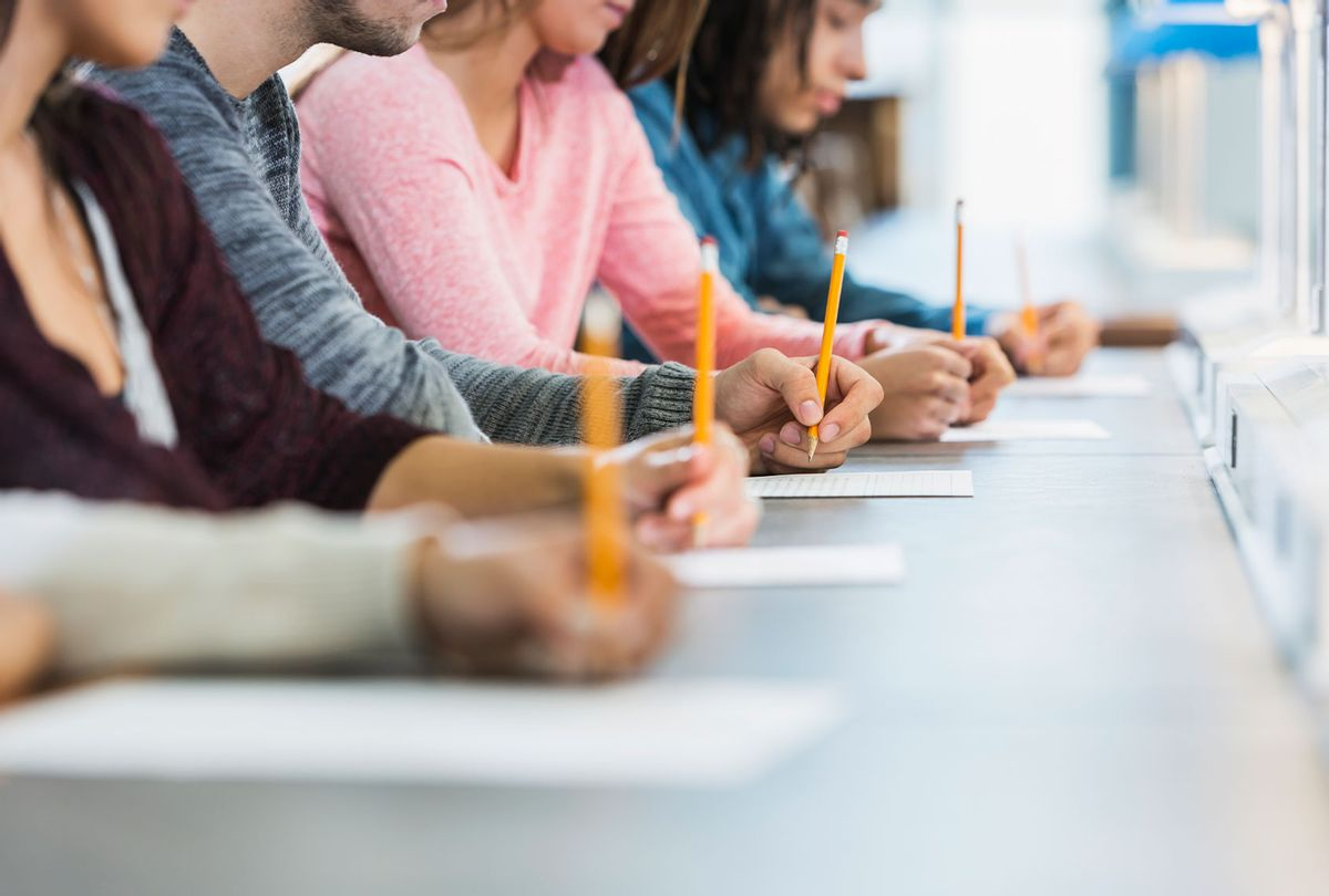 Students taking a test (Getty Images/kali9)