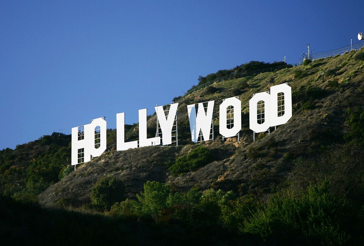 Hollywood sign renovation in 2005 (David McNew/Getty Images)