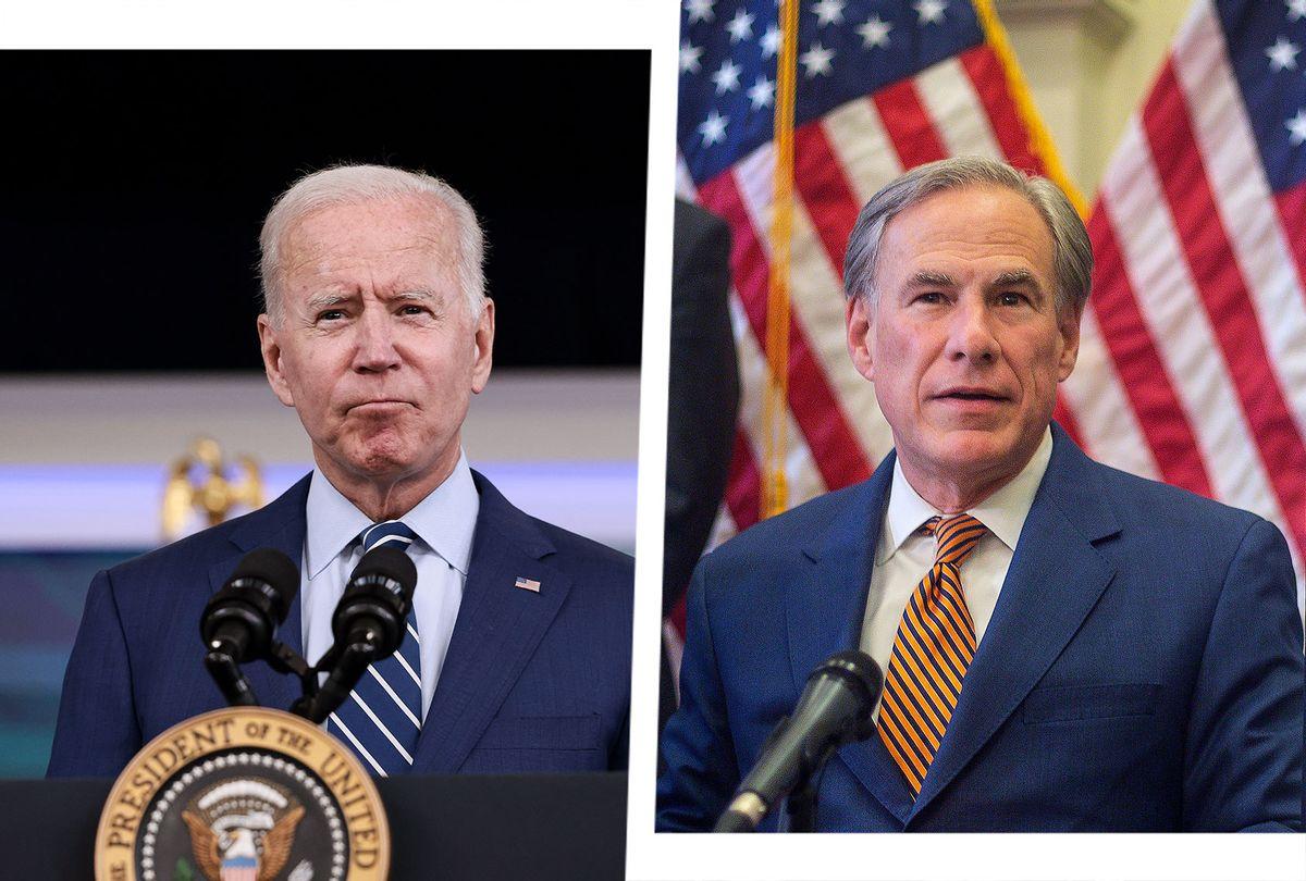 Joe Biden and Greg Abbott (Photo illustration by Salon/Getty Images)