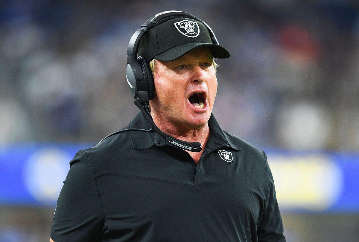 Las Vegas Raiders head coach Jon Gruden (Brian Rothmuller/Icon Sportswire via Getty Images)