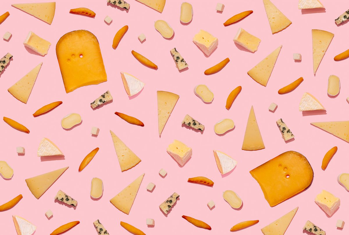 Varieties of cheese and bread sticks  (Getty Images/Westend61)