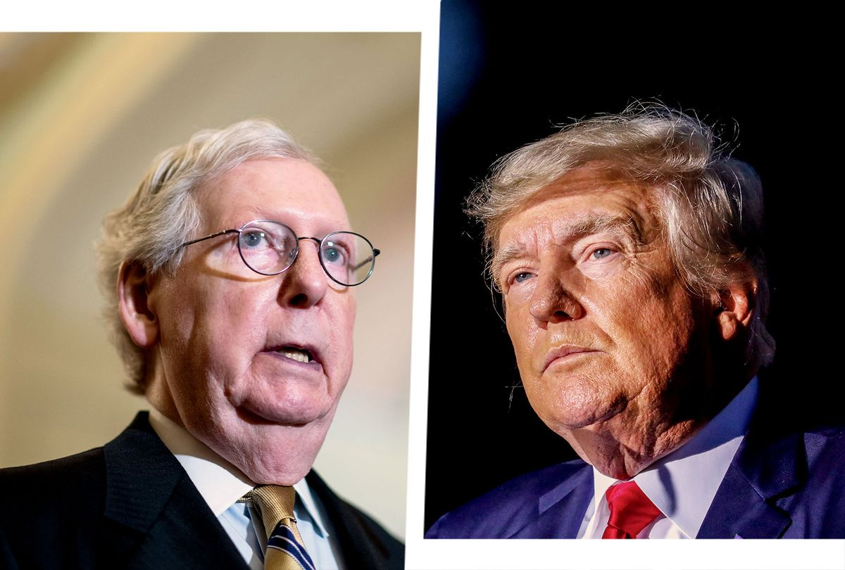 Mitch McConnell and Donald Trump (Photo illustration by Salon/Getty Images)