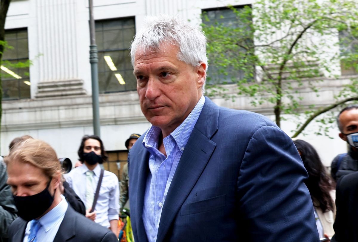 Attorney Steven Donziger arrives for a court appearance at Daniel Patrick Moynihan United States Courthouse in Manhattan on May 10, 2021 in New York City. (Michael M. Santiago/Getty Images)