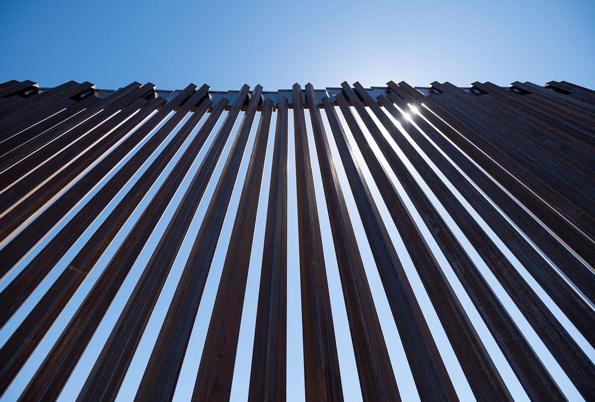 The border wall stretches along the U.S.-Mexico border on the Johnson Ranch near Columbus, N.M. (Bill Clark/CQ-Roll Call, Inc via Getty Images)