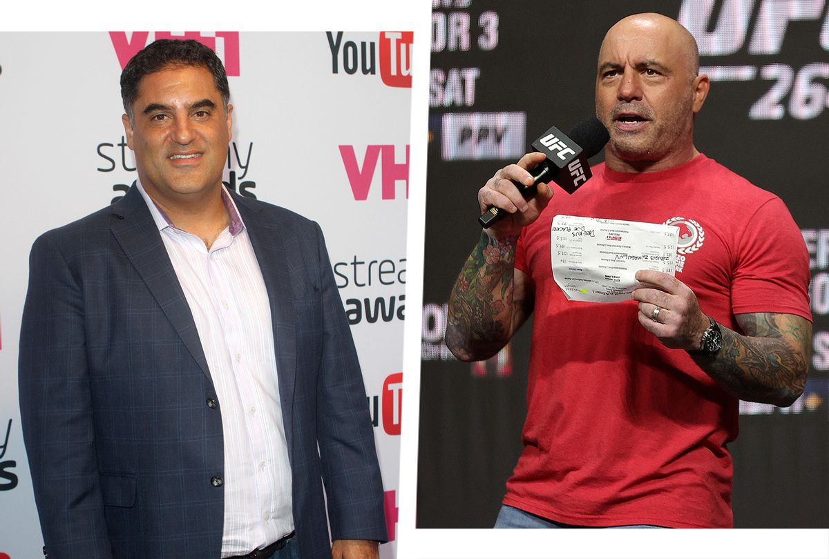 The Young Turks Cenk Uygur, left, and the popular podcast host Joe Rogan. (Photo illustration by Salon/Getty Images)